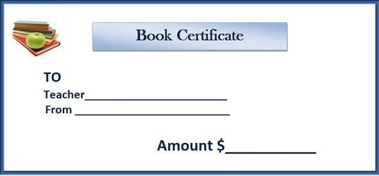 book gift certificate